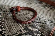 kangaroo leather bracelet leather leather braiding