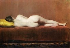 Nude Recumbent, William Merritt Chase. American (1849 - 1916)