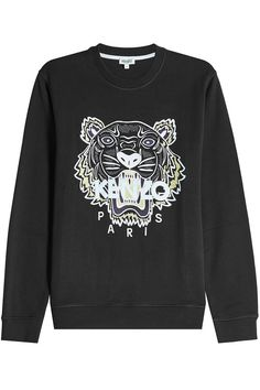 KENZO Embroidered Cotton Sweatshirt. #kenzo #cloth #