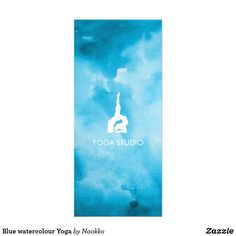Shop Blue watercolour Yoga Rack Card created by Naokko. Create Your Own Card, Create Yourself, Rack Card, Landscape Prints, Promote Your Business, Marketing Materials, Nursery Wall Art, Thank You Cards, Watercolour