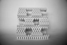Lego sculpture - brute