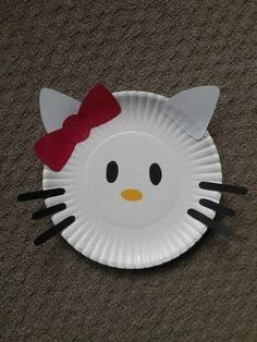craft ideas with paper plates & Paper Plate Cat Craft | Cat crafts Paper plate crafts and Cat