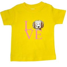Inktastic KiniArt Doodle Love Baby T-Shirt By KiniArt Labradoodle Goldendoodle Dog Valentines Day Valentine Dogs Westie T-shirt Infant Tees Shower Gift Clothing Apparel Kim Niles, Infant Boy's, Size: 12 Months, Yellow