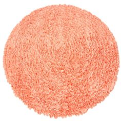 This luscious coral/peach ruffle rug is plush and made of rows and rows of…