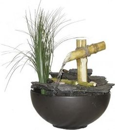 Look at this Calming Bamboo Eternity Tabletop Fountain on today! Indoor Waterfall Fountain, Indoor Wall Fountains, Bamboo Fountain, Bird Bath Fountain, Tabletop Water Fountain, Indoor Fountain, Garden Fountains, Water Fountains, House Plants Decor