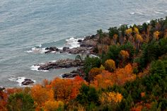 Fall views from the top of Sugarloaf Mountain - Marquette, MI  [5184 x 3456] #nature and Science