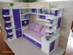 how to make miniature bed - sitting area for dollhouse guest room