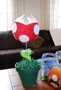 Mario Bros. Birthday Party ~ Decoration and Trophy for Game