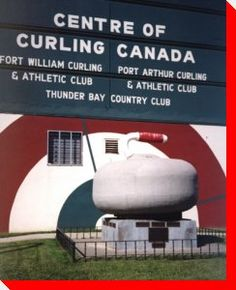 Curling Stone - Thunder Bay, Ontario