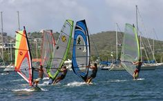 Windsurfing in Curacao