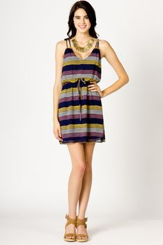 Squiggle Stripe Dress by A-thread.