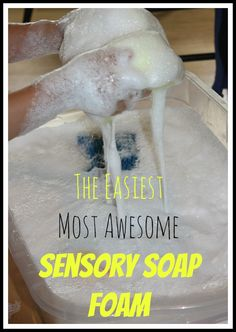 Amazingly Easy Soap Foam Sensory Play   Awesome, Quick Sensory Play Right Out of The kitchen! How To Get Started... First, read our simple preschool science experiment to prepare your ivory soap for incredible soap foam sensory play!   What Comes Next... Simply add your crushed, sawed and ...
