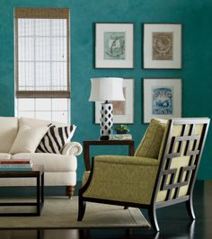 Interior Design Trends: Blue. Ethan Allen's take on blue decor. Grayson's a winner from every angle.