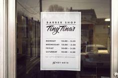 Tiny Tina's Barber shop identity