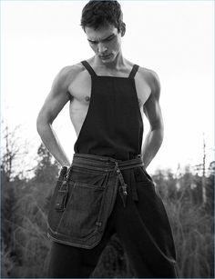 Alexandre Cunha Channels Country Style for PEPLVM Cover Shoot - Page 2 of 2 - The Fashionisto The Fashionisto, Brazilian Models, Country Style, Male Models, Editorial Fashion, Sexy Men, Tank Man, Overalls, Channel