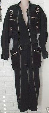 80s black jumpsuit by Yohji Yamamoto