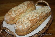 Vynikající bagety i bez přidání droždí nebo kvásku. Ciabatta, Ham, Low Carb, Pizza, Healthy Recipes, Bread, Healthy Eating Recipes, Hams, Healthy Diet Recipes