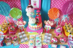 Amanda's Parties To Go: Sweet Shoppe Party -- Candyland! Candy Theme, Candy Party, Candyland, Homemade Fancy Dress Ideas, Fun Party Themes, Party Ideas, 2nd Birthday Parties, Birthday Ideas, Lollipop Birthday