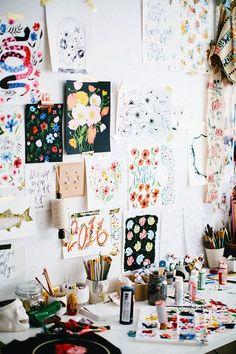studio snaps // shannon kirsten illustration – Creative Home Office Design Workspace Inspiration, Decoration Inspiration, Room Inspiration, My New Room, My Room, Deco Studio, Art Studio Decor, Creative Studio, Creative Skills