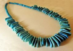 Navajo crafted turquoise accented necklace in sterling silver.    www.EagleDancerGallery.com