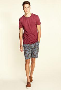 Floral Print Woven Shorts | 21 MEN #21Men
