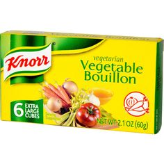 Knorr Bouillon Cubes - Vegetable - Extra Large - Oz - Case Of 24 Homemade French Onion Soup, Whole Food Recipes, Snack Recipes, Frozen Vegetables, How To Cook Pasta, Cooking Tips, Cooking Pasta, I Foods, Cubes