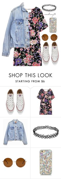 """Vintage"" by avonsblessing94 ❤ liked on Polyvore featuring Converse, Levi's, Forever 21, vintage, women's clothing, women, female, woman, misses and juniors"