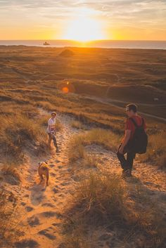Glorious sunset over the sand dunes in Jersey, Channel Islands #EscapeToJersey