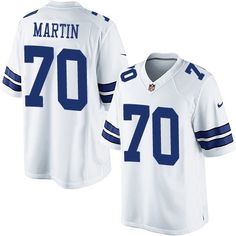 nike dallas cowboys mens 70 zack martin limited white road nfl jersey