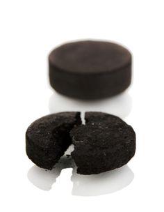 charcoal tablet closeup