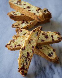 Cranberry Almond Biscotti (dip in white chocolate to make extra special and add a tbsp of lemon zest)