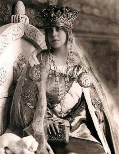 Queen Marie of Romania in her Coronation Robes, 1922