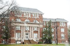 Lee Hall in the snow
