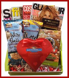 $59.99 Our Fitness and Beauty Cheeriodical makes the perfect Valentine's Day gift!  It inclues Glamour, Cosmo, Shape and Fitness magazines; your choice of our amazing sweet, savory or mixed edibles; and a box of Ghirardelli chocolates. https://www.cheeriodicals.com/products/category/Valentines-Day