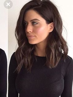 Trendy Long Bob Haircut Still uncertain about whether you want to wear long hair or make a bob cut? Here are the 25 best long bob haircuts for women! Long Bob Haircuts, Long Bob Hairstyles, Long To Medium Haircuts, Long Brunette Hairstyles, Hairstyles For Women, Over 40 Hairstyles, Round Face Haircuts, Modern Haircuts, Everyday Hairstyles