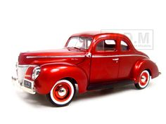 1940 Ford Coupe Diecast Model Metallic Red 1/18 Die Cast Car By Motormax-$24.99