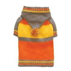 Sporty Pompom Sweater in Orange