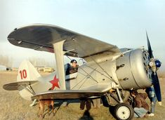 Polikarpov I-153 Chaika, one of very few biplane types with retractable undercarriage