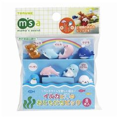 http://www.modes4u.com/en/kawaii/p19293_sea-animal-food-picks-for-Bento-Box-Lunch-Box-dolphin-seal.html