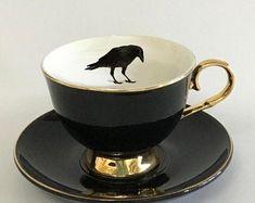 Black Bat, Black N White Images, Outside Tiles, Teacup Cats, Morrocan Decor, Juniper Wood, Crows Ravens, Tile Murals, Vintage Plates
