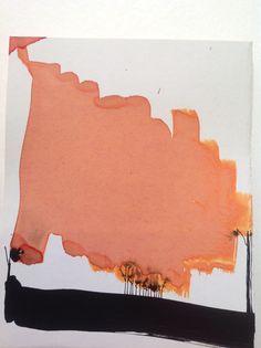 Zwart rood schetsen. Rudy Synaeve