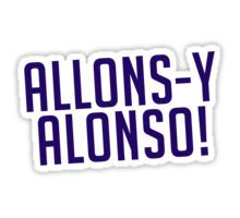 Allons-y Alonso! Sticker