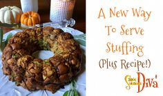 Tired of serving stuffing out of a bird's behind? Try presenting your stuffing in a creative way (plus, you don't have to worry about undercooking and getting salmonella! Easy Holiday Recipes, Simple Recipes, Paleo Bacon, Chicken Bacon, Serving Platters, Stuffing, Fruits And Veggies, Bagel, Food To Make