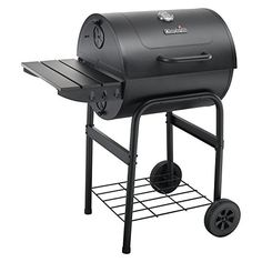 Char-Broil American Gourmet Black Barrel Charcoal Grill at Lowe's. Charcoal grillers will love the Char-Broil barrel grill. With 568 square inches of cooking space, you can grill for an army. It features adjustable fire Barrel Grill, Gas Barbecue Grill, Clean Grill, Cooking Temperatures, Built In Grill, Outdoor Kitchen Design, Charcoal Grill, Outdoor Cooking, Walmart