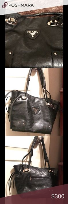 Prada Milano Handbag! A Prada Milano dal 1913 handbag! It was just gifted to me by my boyfriend's mom, so I can't confirm authenticity. The hardware has a few scrapes. Other than that it's in great condition. Prada Bags Shoulder Bags