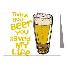 Thank You Beer Note Cards