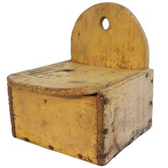 1stdibs - 19thc Original Mustard Painted Salt Box From New England explore items from 1,700  global dealers at 1stdibs.com