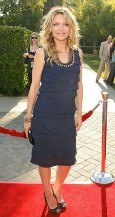 Wouldn't it be nice to look a little like Michelle Pfeiffer in this little black dress?