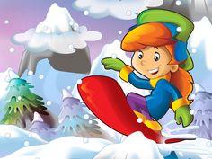 Cartoon kid doing freestyle slide Winter Activities For Kids, Teaching Numbers, Reward System, Cartoon Kids, Pre School, Pikachu, Kindergarten, Clip Art, Fictional Characters