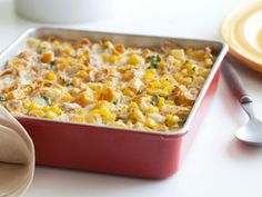 Corn and Squash Pudding - Healthy eats from foodnetwork.com